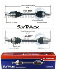 Acura RSX 2002-2006 Base FWD Front Left & Right CV Axle Shafts SurTrack Set