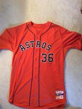 Authentic Majestic Team Issued Houston Astros Jerome Williams Orange Jersey. Siz