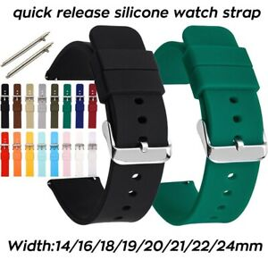 Silicone Watch Strap 14mm 16 18 19 20mm 21 22mm 24mm Waterproof Soft Rubber Band