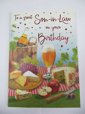 FANTASTIC COLOURFUL PICNIC TO A GREAT SON-IN-LAW BIRTHDAY GREETING CARD
