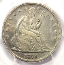 1871-CC Seated Liberty Half Dollar 50C Coin - Certified PCGS VF Details!