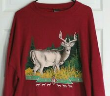 Vtg deer sweatshirt XXXL 3XL 50/50 made in USA buck hunting hunter