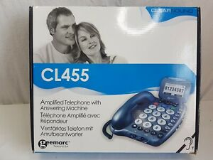 CORDED LARGE BUTTON TELEPHONE ANSWER MACHINE WITH DISPLAY, IDEAL FOR ELDERLY