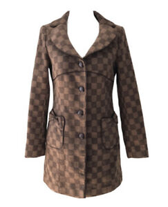 GIORGIO ARMANI ITALY Vintage Wool Blend Lined Coat. Size S. GUC