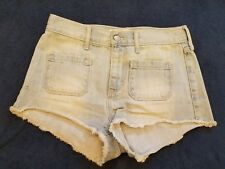 HOLLISTER LIGHT WASHED FADED JEAN SHORT SHORTS Size 1