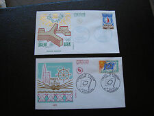 FRANCE - 2 enveloppes 1er jour 1971 (unesco/conseil europe) (cy83) french