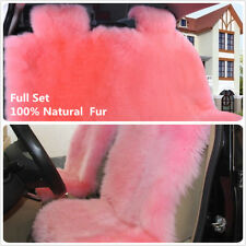 Australian sheepskin car seat covers universal size Long Hair for seat Protector