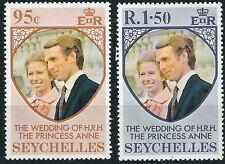 Seychellen - Hochzeit Anne und Mark Phillips Satz postfrisch 1973 Mi. 316-317