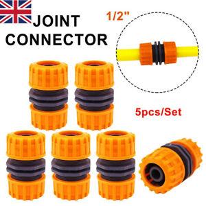 "5Pcs Hose Pipe Connector 1/2"" Garden Joiner Mender Extend Repair Adaptor Coupler"