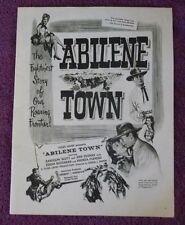 Abilene Town Randolph Scott Original movie ad from 1940's fan magazine L@@K
