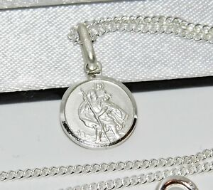 Sterling Silver St Christopher Pendant 925 Silver ~ Choice of Chain - Gift Boxed