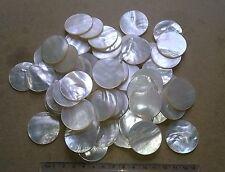 Pieza redonda de Madre de Perla 4 Embutido/Joyas Vintage 33 de diámetro x 1-1.5 mm