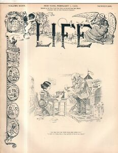 1900 Life February 1 - New Milford CT wants to get rid of saloons; Cigar flap