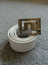 J Lindeberg Golf Belt White 36""