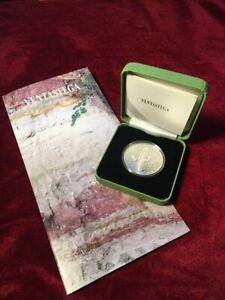 Silver 5 euro 2020 LATVIA VENTASTEGA (lumenescent!) BOX+COA+BOOKLET mintage 3000