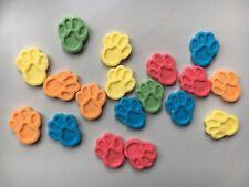 Edible Fondant Icing Paw Print - Cake Topper X 20