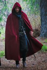 Medieval Hooded Cloak/Cape (Black, Red, Brown) - 5003