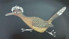 Vintage Retro Couroc Bowl Dish Roadrunner Bird Sunglasses Mohawk Black