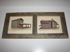 Michael Van Horn Tobacco Barn & Farm House Signed Framed Print