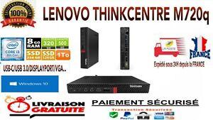 Lenovo ThinkCentre M720Q Tiny i3-8100T 3,1 GHz 256Go M.2 SSD 8Go DDR4 WIN 10