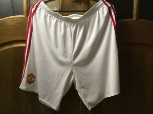 MANCHESTER UNITED ENGLAND 2015 2016 FOOTBALL SHORTS WHITE ADIDAS AI6714 REDS