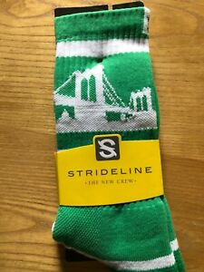 Brand New Strideline socks reduced price and free Shipping Brooklyn White/Green