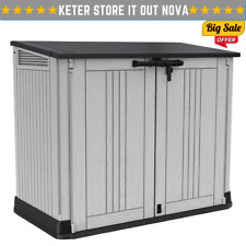 Keter Store it Out Nova - Light Grey Waterproof Garden Bin Storage Container New