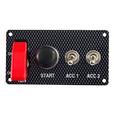 Grayston Carbon Effect Starter Switch Panel With 2 Accessory Switches