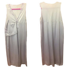 Womens Vintage Nightgown sz Small Lilac full length gown lace detail VTG LG20