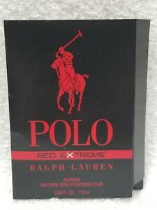 Ralph Lauren POLO RED EXTREME Eau Parfum Spray Men Sample/Vial .04 oz/1.2mL New