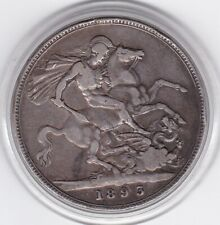 1893    Queen  Victoria  Large  Crown / Five Shilling  Coin