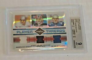 2004 Leaf Limited Player Threads Jersey Card Prime Drew Bledsoe BGS 9 MINT 6/25