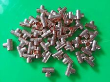 50x COPPER 15mm PLUMBING EQUAL TEE END FEED FITTINGS