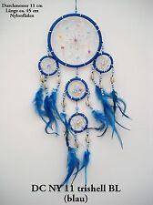 Nuevo hecho a mano Native American Indian Style Dream Catcher Azul / dcny11trishellblu