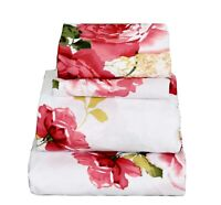 Beautiful Bedding Super Soft Egyptian Comfort Floral Sheet Set Red Red Rose