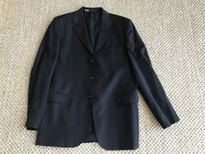 Boys Jacket Sport Coat Blazer Europa Collection Size19R 100% Wool  3 blue button