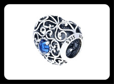 AUTHENTIC GENUINE PANDORA SILVER HEART BIRTHSTONE MONTH SIGNATURE DECEMBER CHARM