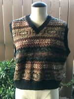 Vintage LL Bean 100% Wool Vest Sz Small Good Condition
