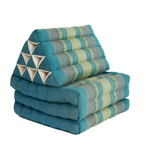 Thai Three Fold Triangular Cushion - Blue (DM22)