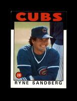 1986 Topps Baseball #690 Ryan Sandberg (Cubs) NM-MT