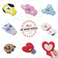 BT21 Character Silicone Mini Hand Mirror Cosmetic Mirror Authentic K-POP Goods