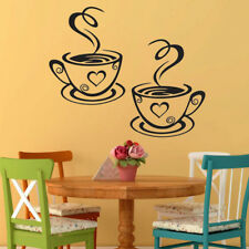 Coffee Cups Cafe Tea Wall Stickers Art Vinyl Decal Pub Restaurant Kitchen Decor