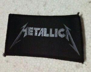 Metallica logo oblong vintage 1980s SEW ON PATCH