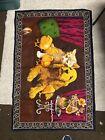 Vintage Felt Tapestry Cat Dog Chicks 100% Cotton Turkey Bright