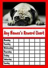 Red Pug Star Sticker Reward Chart