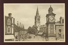 Warwickshire Warwicks RUGBY Market Place Overtons & Swallow Raincoats c1950s PPC