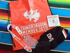 ✺New✺ 2017 ST GEORGE ILLAWARRA DRAGONS Junior Membership Pack - Hat Lanyard Bag