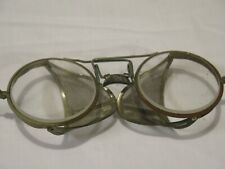 Vintage Retro Willson? Folding Safety Glasses Mesh Side Guard Steampunk