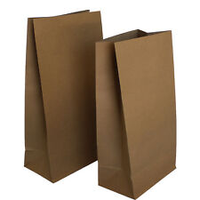 100 -Small Brown Kraft Flat Bottom Bags Small Gift Bags Gift Favour Flat Bottom