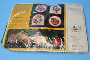 Christmas Ornaments Kit 6 pieces NEW sealed to make 6 stitch/glue ornies